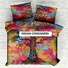Multi Tie-Dye Dry Tree Bedding Queen Duvet Double Doona Comforter Cover Quilt