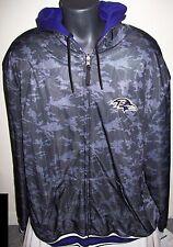 BALTIMORE RAVENS BLACK OPS CAMO Reversible PolyFleece Hoody Jacket CAMOUFLAGE 5X