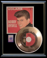 BOBBY RYDELL VOLARE GOLD METALIZED  RECORD RARE WITH PICTURE SLEEVE NON RIAA