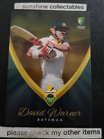 2015/16 TAP N PLAY CRICKET BASE CARD NO.15 DAVID WARNER TEST