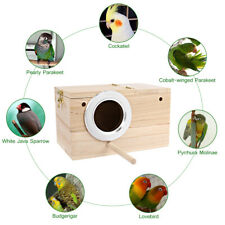 Popetpop Solid Wood Nest Box Nesting Boxes Fr Small Birds Parrot Budgies Finches