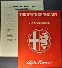 1981 Alfa Romeo GTV 6/2.5 Coupe Brochure Folder + Insert Excellent Original 81