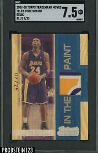 2007-08 Topps Trademark Moves KOBE BRYANT Lakers HOF 3-Color Patch /25 SGC 7.5