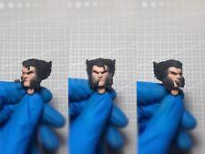 """Painted Service 1/12 Logan Hugh Jackman X-Men Head Sculpt fit 6"""" ML Mez One:12"""