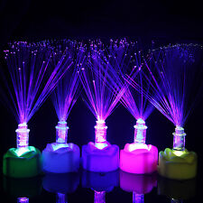 Colorful Changing LED Fiber Optic Night Light Lamp Stand Party Birthday Decor
