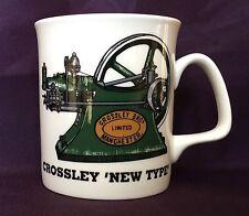 Tipo de porcelana china. Crossley nuevo motor estacionario Taza Decorada Mano en Gales Regalo