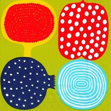 KOMPOTTI Marimekko geometric paper lunch napkins new 20 in pack 33cm