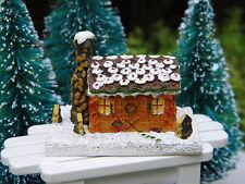 Miniature Dollhouse FAIRY GARDEN Accessories ~ CHRISTMAS Gingerbread Cabin House