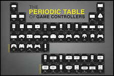 Periodic Table of Game Controllers Poster BRAND NEW! AMAZING GAMERS POSTER! SALE