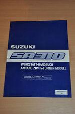 Werkstatthandbuch SUZUKI Swift SA310 Anhang zum WHB Stand 1985