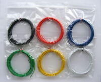 30m Equipment Wire Kit 1/0.6mm  22-23 AWG - 6 Colour Single Solid Core WP-011517