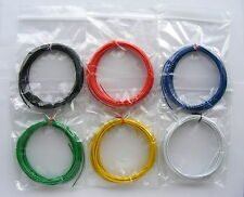 30m Equipment Wire Kit 1/0.6mm  22-23 AWG* - 6 Colours Single Solid Core  6 x 5m