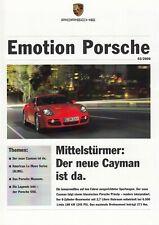 PORSCHE Emotion Vorstellung Cayman Coupe 550 History Prospekt Brochure 2006 29