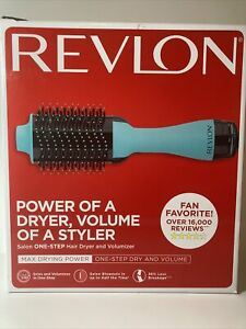 Revlon One-Step Hair Dryer& Volumizer Hot Air Brush Mint Color (Open Box)