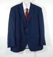 STAFFORD jacket blazer sport coat navy blue two button classic business 46 46R