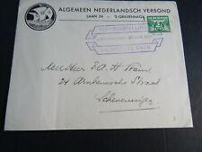 Nederland 174 op brief ANV Den Haag stempel Tentoonstelling De Groote Trek 1939