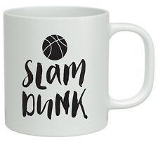 Slam Dunk Basketball White 10oz Novelty Mug Hoop Sports Ball Birthday Gift