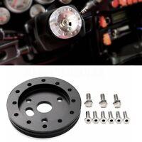 "0.5'' 1/2"" Hub 6 Hole Steering Wheel Boss kit For Grant APC 3 Hole Adapter Black"