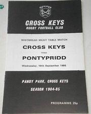 1984 Cross Keys V Pontypridd programme