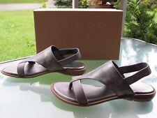 Axxiom Latoya Women's Pewter Vegan Leather Slingbacks Sandals, size 7.5