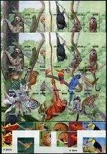 Madagaskar 1999 Vögel Tiere Frosch Jaguar Zikade 2154-2177 A + U Imperf MNH/ 723