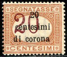 Occupazioni Trento e Trieste 1919 Segnatasse n. 3 ** varietà (m2581)