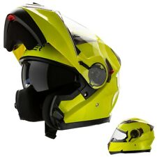 Casco Modulare Moto Omologato Integrale Giallo Alta visibilità