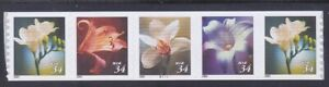 US 3481a MNH 2001 (3478-81) 34¢ Flowers Plate No Coil PNC 5 Plate#B1111