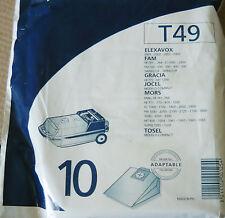 T49 MENALUX 10 sacs pour aspirateur ELEXAVOX 2001-2004 FAM MORS FB761-764