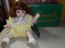 "Moments Treasured - KIRBY - Porcelain Doll - 9"" Sitting Doll - original box"