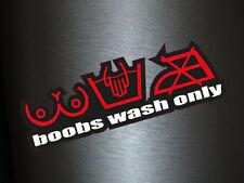 1 x Aufkleber Boobs Wash Only Sticker Autoaufkleber Fun Dub Gag Tuning OEM Turbo