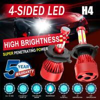 4-Side H4 HB2 LED Headlight Kits 2800W 280000LM Bulb Hi/Lo Beam 6000K White Lamp
