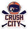 "Houston Astros ""Crush City"" Baseball bats and Space helmet crossed Type Magnet"