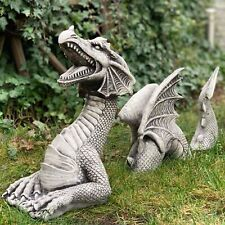 Large Dragon Gothic Garden Décor Statue Sculptures Resin Ornament For Garden
