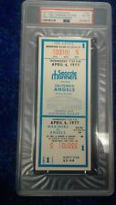 1977 Seattle Mariners 1st game ticket Psa graded Nmt-mt 8-High grade