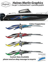 Marlin Boat Graphics 2500mm long Haines Style. 1 pair per order