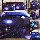 3D Literie Galaxy ciel Parure de lit Espace extra-atmosphérique simple double