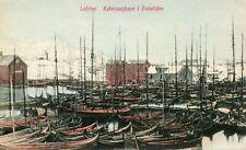 Norway Norge Lofoten - Kabelvaaghavn i Fisketiden old postcard