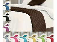 QUILTED SATIN BED RUNNER SUITABLE FOR ALL BED SIZES 55 x 220cm RUNNERS FREE P&P