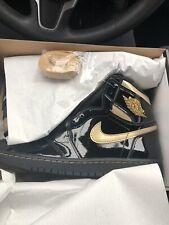 555088-032 Air Jordan Retro 1 High OG Black Gold Sz 8.5Confirmed