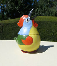 Antique Funky Chicken/Cockerel Preserve/Condiment Pot - Multi Coloured - Germany