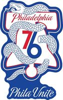 "Philadelphia 76ers NBA Color Die Cut Vinyl Decal Sticker - Choose Size 2""-42"""