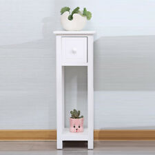 1pcs Slim Wood Table Bedside End side Telephone Table Storage Plant Stand