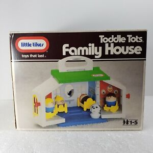 Little Tikes Toddle Tots Family House Play Set 1986 Vintage Rare Collectible
