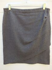 WITCHERY SKIRT GREY SOFT PENCIL GATHERED SKIRT  - LARGE