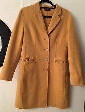 Auth Giorgio's Of Palm Beach 100% Cashmere Yellow Coat Jacket Sz 46 US 8 M