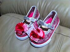 NEW- Barbie Toddler Girl's Ballet Mary Jane Silver Flat Shoes for Kids Girls (5)