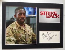 [A0799] Rhashan Stone Signed STRIKE BACK 12x16 Display AFTAL