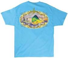 Guy Harvey Mens Smokin' Dorado S/S Pocket Tee Shirt, Aqua Blue, Large, NWT