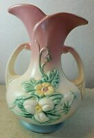 Antique 1946-47 Hull Art Pottery Wildflower Double Handle Vase W-8 - 7 1/2